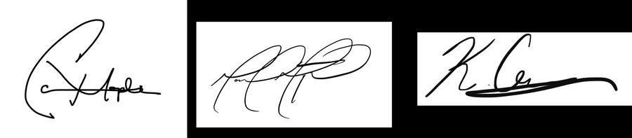 Founders' signatures